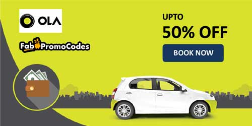 Filter Ola Cabs Coupons and Offers by
